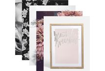 Trending Typography / This summer season's hottest trends in art, stationary and decor is typography. Check out our inspiration images for how to create this effortless trend.