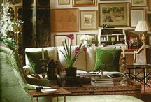 Green Rooms / Beautiful green living rooms