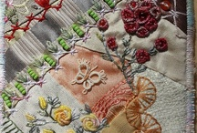 Crazy quilting and stitches