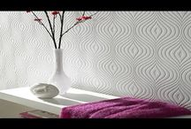 Anaglypta / Textured Wallpaper / Anaglypta wallpaper is a raised textured wallpaper that is quite thick allowing it to be painted. it comes in white but can be be given any faux finish or painted finish that you desire. http://www.wowwallpaperhanging.com.au/anaglypta-wallpaper/