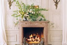 mantlepiece flowers for a wedding