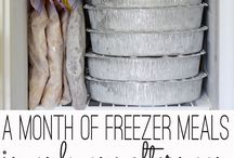 Freezer Meals / Ideas on starting to cook freezer meals and slow cooker freezer bags.