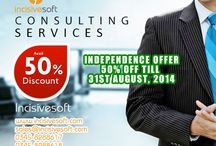 """August 50% Discount offers / Incisivesoft is giving amazing """"INDEPENDENCE OFFER"""" Avail 50% Discount rates on all products & services till 31 August"""