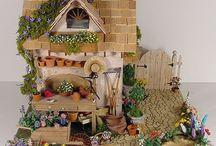 Сказочный домик  и сад