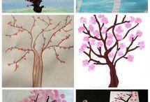 jarni kytky a stromy