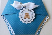 DIAPER SHAPED CARD INVITE SET - THE CUTTING CAFE