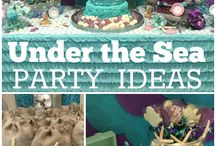 under the sea party !!! / Mermaids, starfish, etc..
