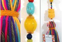 borlas y artesanías con lana