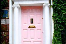 doorways we love. / shut. the. front. door! we've taken inspiration from doorways in all colours of the rainbow here xo