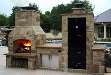 Outdoor. Fire place