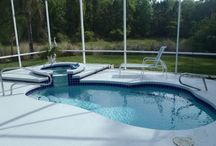 Water, Water Everywhere! / The #Florida lifestyle includes #swimmingpools and #jacuzzis and canals and more! Do you want a pool home? We can make it happen! 386*246*8585