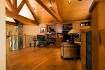 Cabin loft office ideas