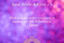 Wedding Advice from Real Brides / Tips and advice from Indian and South Asian brides.  A must read for all brides-to-be!