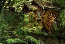 vodný a veterný mlyn