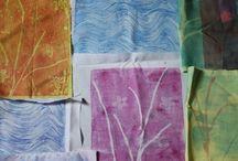 Gelli Plate - Textiles