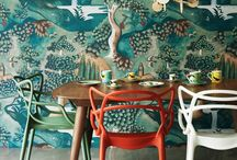 up the wall / Wall decorations, wall papers, colors, paintings etc