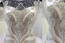 Pearls and beaded embroidery