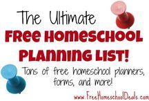 Homeschool Planning / HSing planning, organizing, etc
