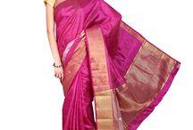 Parchayee Purple Solid Tussar silk Saree