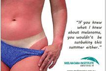 melanoma awareness / sunscreen and tan free / by Danielle Faltisko