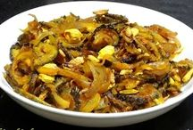 Karela fry-Bitter gourd with onion