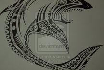 Nápady na tetování - žralok