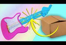 Guitarra de cartón