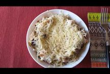 Oven baked (jacket) potatoes with chicken. Cartofi la cuptor cu pui. Картошка в духовке с курицей. / Ingredients: 4 potatoes, chicken-250g, black olives-100g, sweet corn-140g, cheese-200g, salt, basilic and yogurt. Ingrediente: 4 cartofi, carne de pui-250g, măsline negre-100g, porumb dulce-140g, cașcaval-200g, sare, busuioc și iaurt. Ингредиенты: картошка-4шт, мясо куриное-250г, чёрные маслины-100г, сладкая кукуруза-140г, сыр-200г, соль, базилик, йогурт на вкус.
