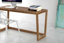 Escritorios / Escritorios de diseño en madera maciza