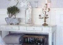 Vintage white interiors