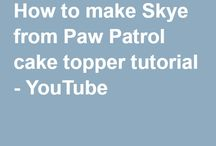 video - modelovanie skye paw patrol