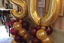 Decoracion Bodas de oro con globos