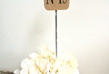 Wedding Table Numbers / by Mallory Lee