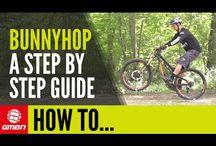 Mountain bike bunny hop