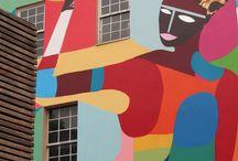 street art / color wall