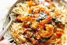 Garlic Butter Capillini with Shrimp
