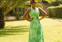 leafy green / Green maxi
