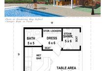 Backyard pool house plans