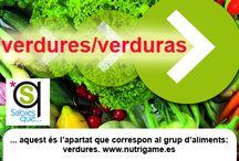 VERDURES / VERDURAS / Apartado de verduras donde encontrarás curiosidades sobre ellas.