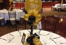 50th birthday black and gold