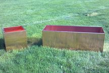 Copper Planters  / Copper Planters by Nice Planter LLC cube and troughs from harden copper