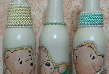garrafas pintadas
