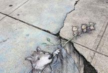 illusion chalk art