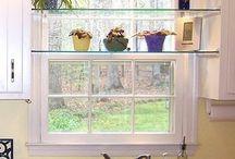 Plants in kitchen window
