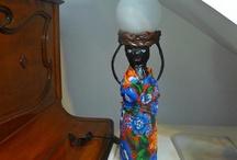 boneca garrafa Pet luminária