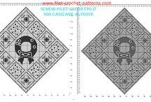 Christmas free filet crochet patterns / Christmas free filet crochet patterns, free download, made with software.