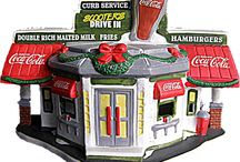 COCA COLA Town Square Village Christmas Originals / figurines & buildings by Town Square Village