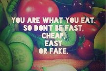 CLEAN FOOD - Quotes / Affirmations to inspire people to clean eating for health in body, soul and spirit.