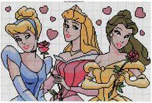 Princesas da Disney / Ponto Cruz e Artesanato