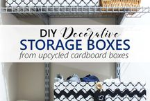 DIY boxes for storage
